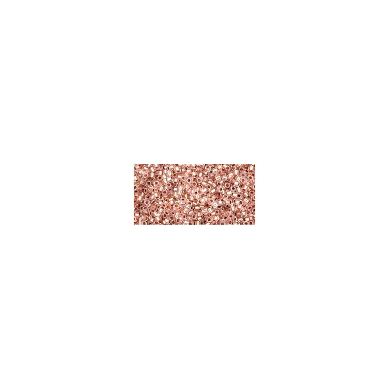 TR-15-741 COPPER-LINED ALABASTER TOHO SEED BEADS