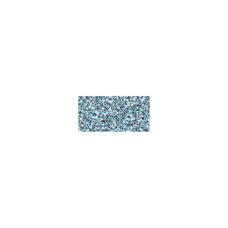 TR-15-773 INSIDE-COLOR RAINBOW CRYSTAL/MONTANA BLUE LINED TOHO SEEMNEHELMEID