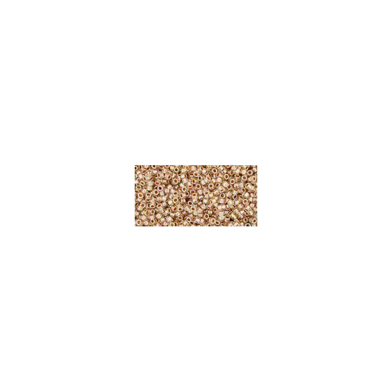 TR-15-994 GOLD-LINED RAINBOW CRYSTAL TOHO SEED BEADS