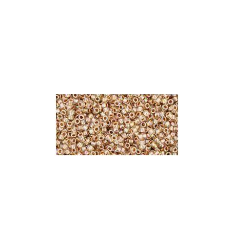TR-15-994 GOLD-LINED RAINBOW CRYSTAL TOHO SEEMNEHELMEID