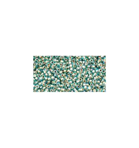 TR-15-995 GOLD-LINED RAINBOW AQUA TOHO SEED BEADS