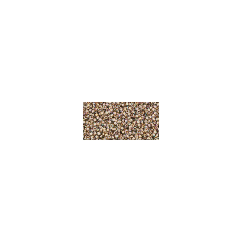 TR-15-999 GOLD-LINED RAINBOW BLACK DIAMOND TOHO SEED BEADS