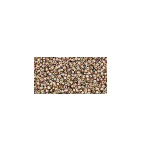 TR-15-999 GOLD-LINED RAINBOW BLACK DIAMOND TOHO SEEMNEHELMEID