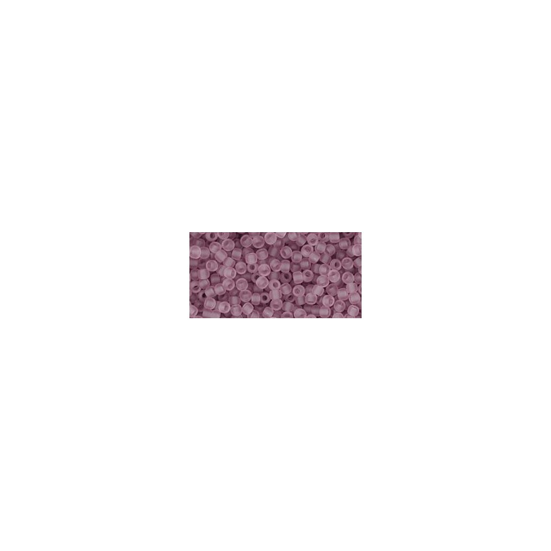 TR-11-6F TRANSPARENT-FROSTED LT AMETHYST TOHO SEED BEADS
