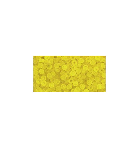 TR-11-12F TRANSPARENT-FROSTED LEMON TOHO SEED BEADS