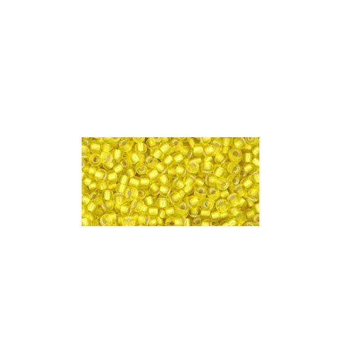 TR-11-32F SILVER-LINED FROSTED LEMON TOHO SEED BEADS