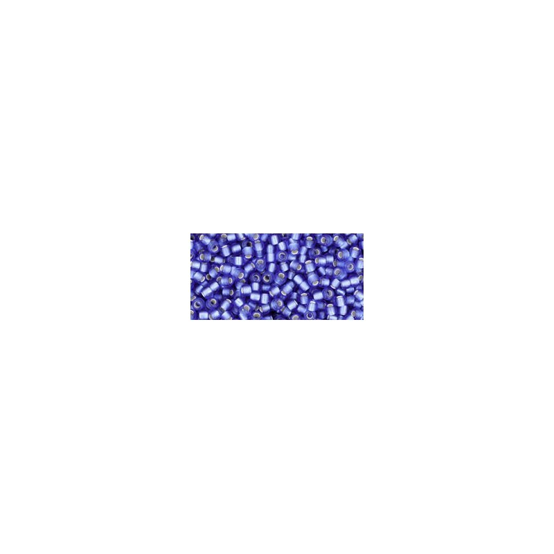 TR-11-35F SILVER-LINED FROSTED SAPPHIRE TOHO SEED BEADS