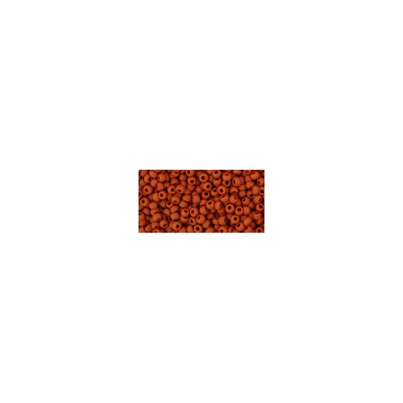TR-11-46LF OPAQUE-FROSTED TERRA COTTA TOHO SEED BEADS
