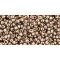 TR-11-204 GOLD-LUSTERED MONTANA BLUE TOHO SEED BEADS