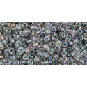 TR-11-266 INSIDE-COLOR GOLD LUSTER CRYSTAL/OPAQUE GRAY TOHO SEED BEADS