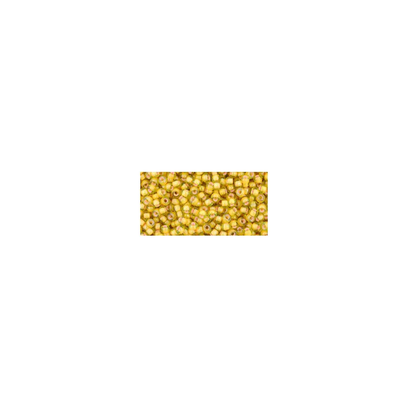 TR-11-302 INSIDE-COLOR JONQUIL/APRICOT LINED TOHO SEED BEADS