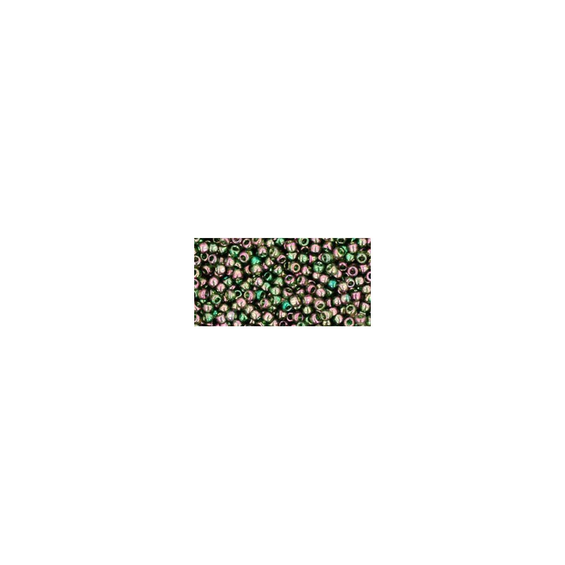 TR-11-323 GOLD-LUSTERED OLIVINE TOHO SEED BEADS