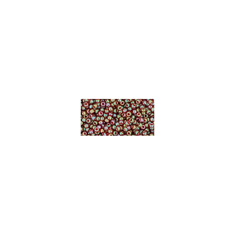 TR-11-330 GOLD-LUSTERED RUST TOHO SEED BEADS