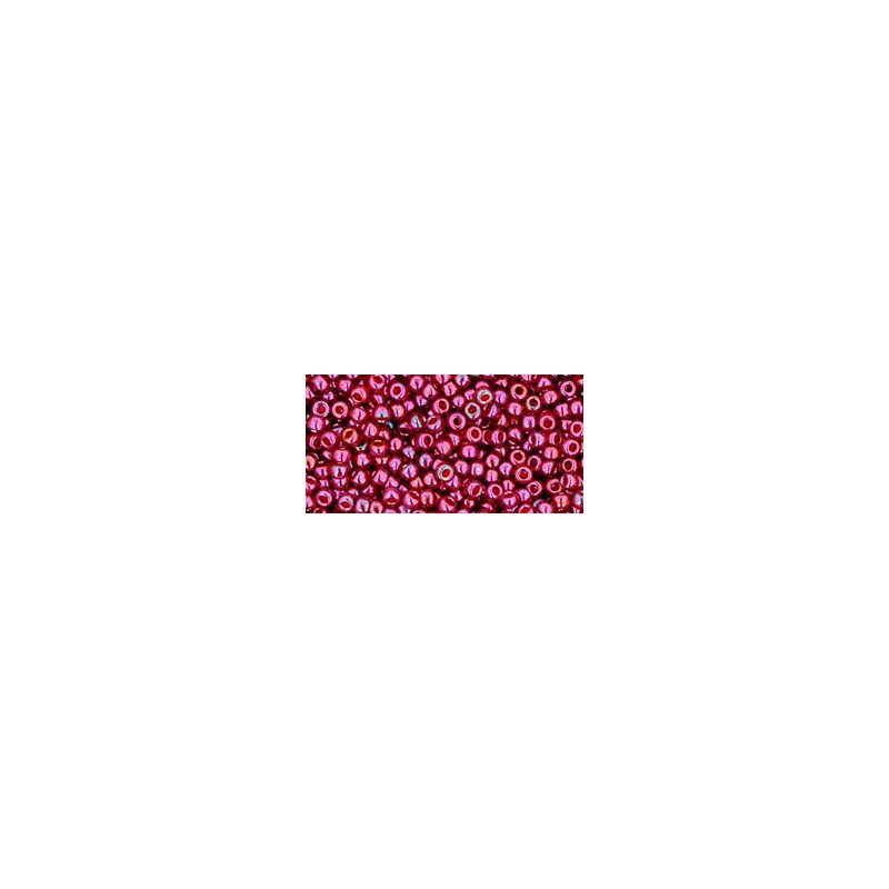 TR-11-332 GOLD-LUSTERED RASPBERRY TOHO SEED BEADS