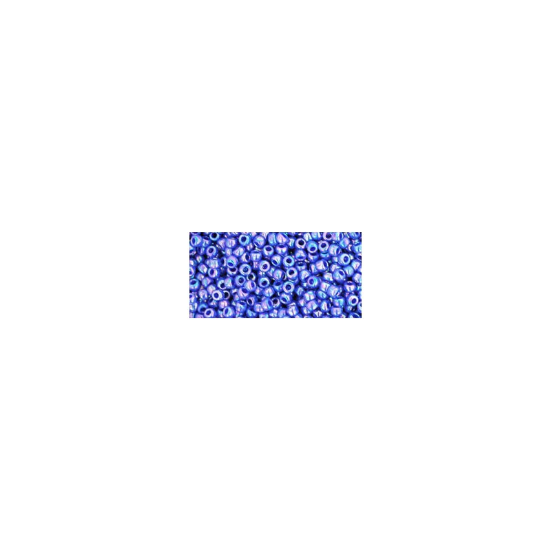 TR-11-408 OPAQUE-RAINBOW NAVY BLUE TOHO SEED BEADS
