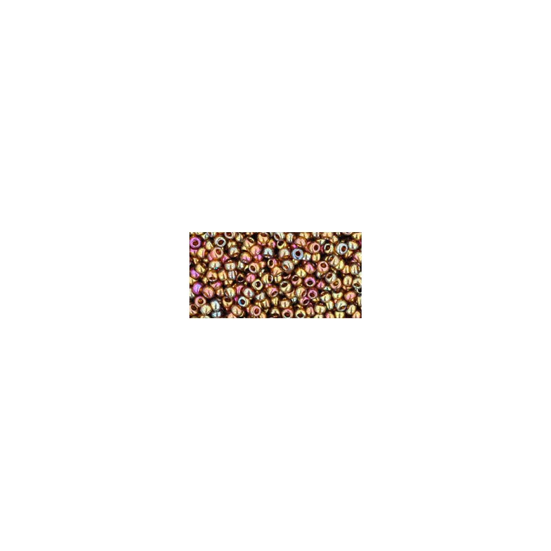 TR-11-459 GOLD-LUSTERED DARK TOPAZ TOHO SEED BEADS