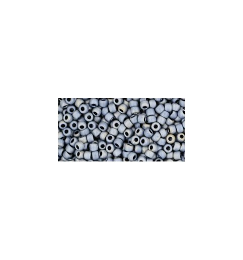 TR-11-612 MATTE-COLOR GUN METAL TOHO SEED BEADS