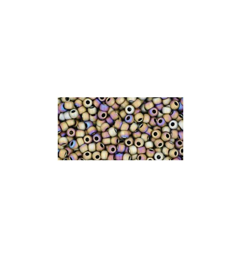 TR-11-614 MATTE-COLOR IRIS BROWN TOHO SEED BEADS