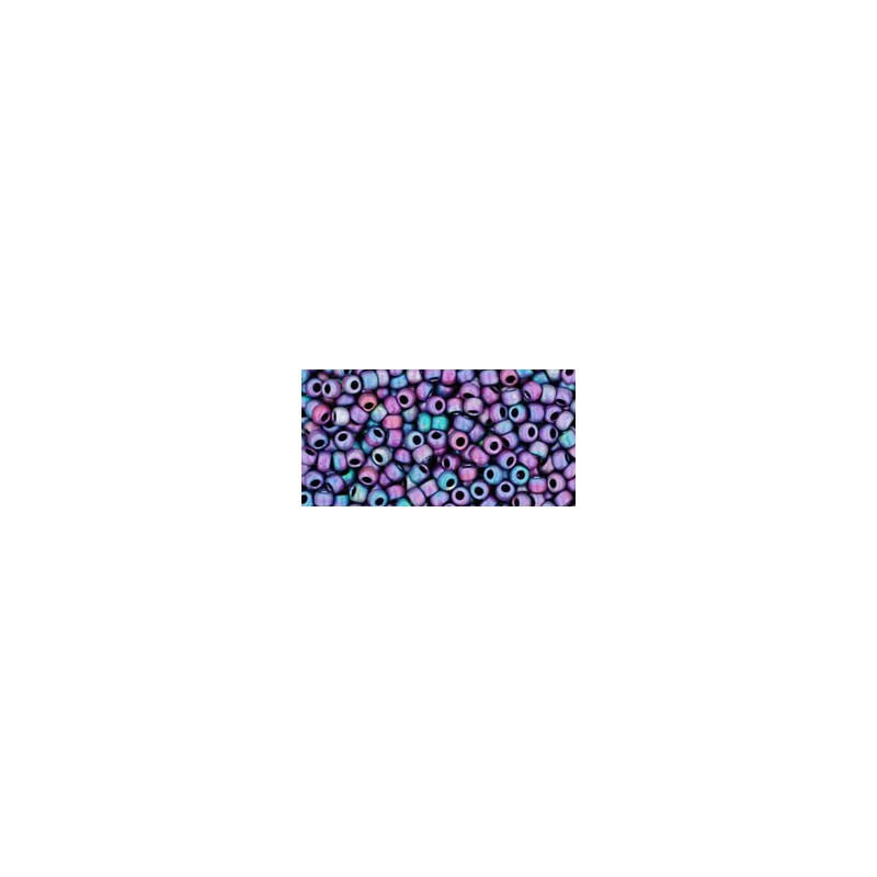 TR-11-705 MATTE-COLOR-FROSTED IRIS BLUE TOHO SEED BEADS