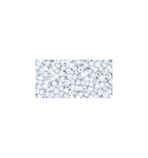 TR-11-767 OPAQUE-PASTEL-FROSTED* LT GREY TOHO SEED BEADS