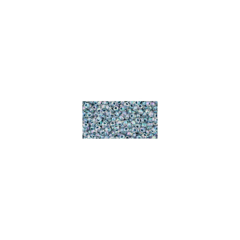 TR-11-773 INSIDE-COLOR RAINBOW CRYSTAL/MONTANA BLUE LINED TOHO SEED BEADS