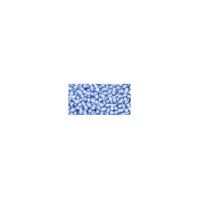 TR-11-933 INSIDE-COLOR LT SAPPHIRE/WHITE LINED TOHO SEEMNEHELMEID