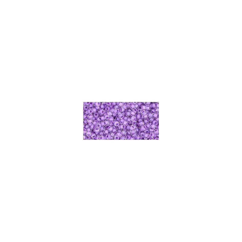 TR-11-935 INSIDE-COLOR CRYSTAL/WISTERIA LINED TOHO SEED BEADS