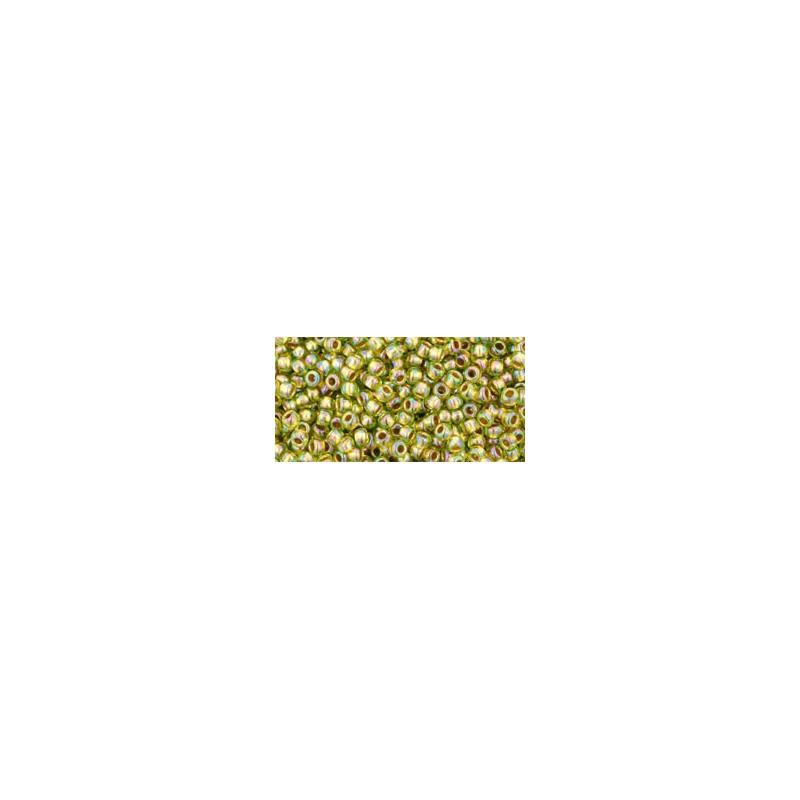 TR-11-996 GOLD-LINED RAINBOW PERIDOT TOHO SEEMNEHELMEID