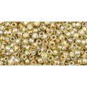 TR-11-998 GOLD-LINED RAINBOW LT JONQUIL TOHO SEED BEADS