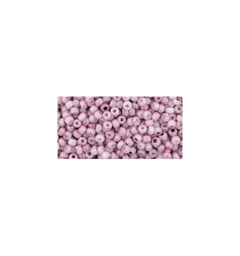 TR-11-1200 MARBLED OPAQUE WHITE/PINK TOHO SEEMNEHELMEID