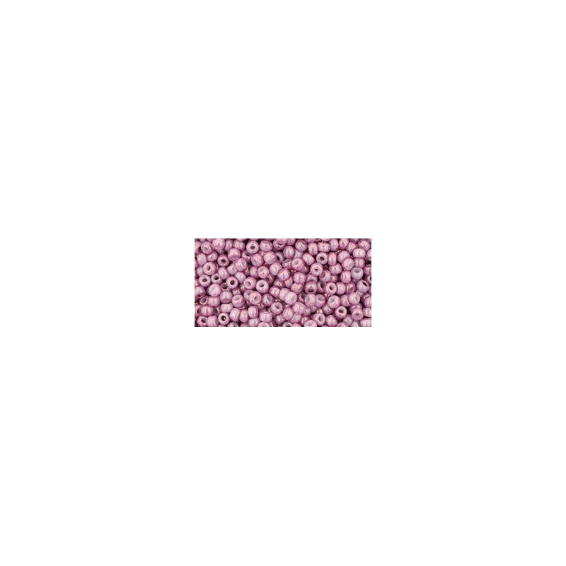 TR-11-1202 MARBLED OPAQUE PINK/PINK TOHO SEED BEADS