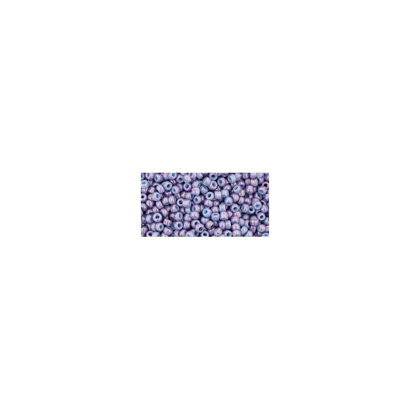TR-11-1204 MARBLED OPAQUE LT BLUE/AMETHYST TOHO БИСЕР