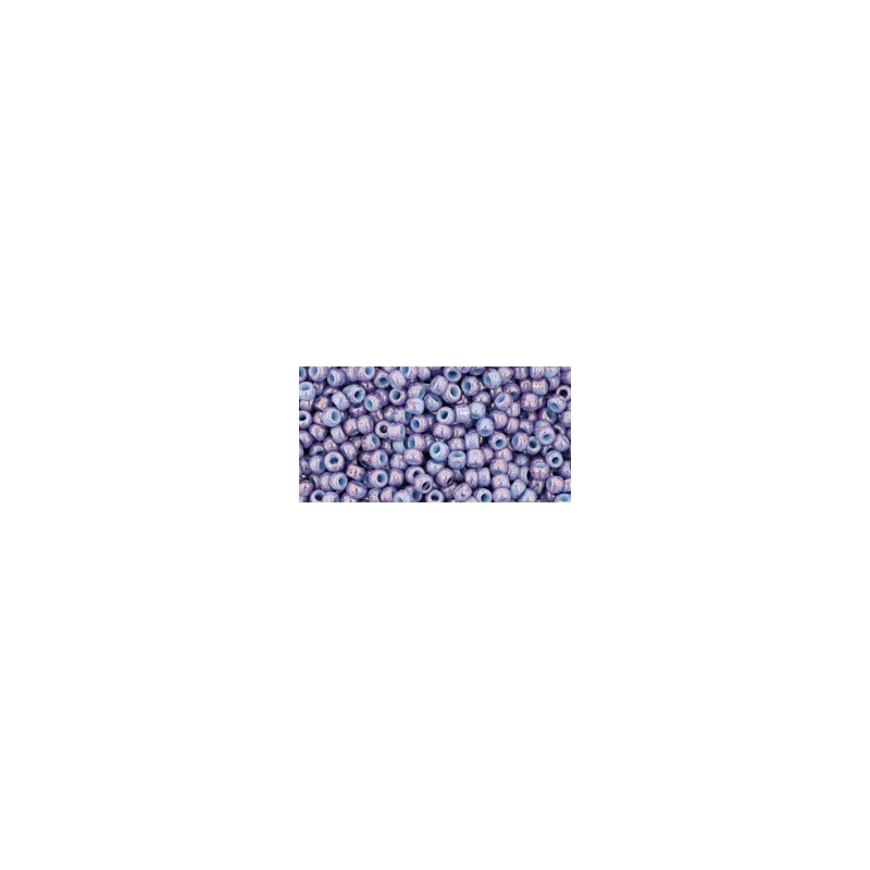 TR-11-1204 MARBLED OPAQUE LT BLUE/AMETHYST TOHO SEEMNEHELMEID