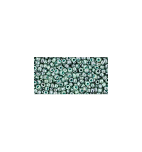 TR-11-1207 MARBLED OPAQUE TURQUOISE/BLUE TOHO SEED BEADS