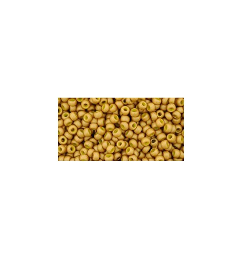 TR-11-1623F OPAQUE-FROSTED GOLD LUSTERED YELLOW TOHO SEED BEADS