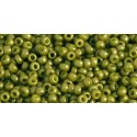 TR-11-1624F OPAQUE-FROSTED PEA GREEN SOUP TOHO SEED BEADS