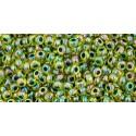 TR-11-1829 INSIDE-COLOR RAINBOW JONQUIL/FOREST GREEN LINED TOHO SEEMNEHELMEID