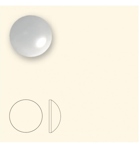 SS16 Crystal White Pearl HF (001 650) 2080/4 Cabochon SWAROVSKI ELEMENTS