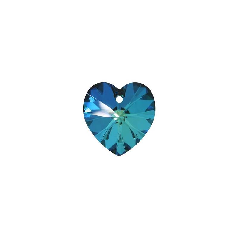 18x17.5MM Crystal Bermuda Blue (001 BB) XILION Heart Pendants 6228 SWAROVSKI ELEMENTS