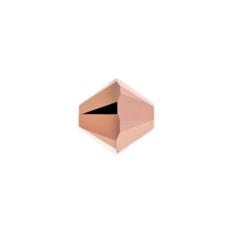4MM Crystal Rose Gold 2x (001 ROGL2) 5328 XILION Bi-Cone Бусины SWAROVSKI ELEMENTS