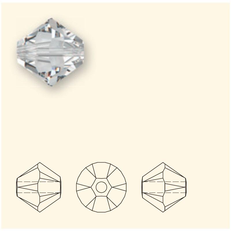 4MM Crystal Rose Gold 2x (001 ROGL2) 5328 XILION Bi-Cone Beads SWAROVSKI ELEMENTS