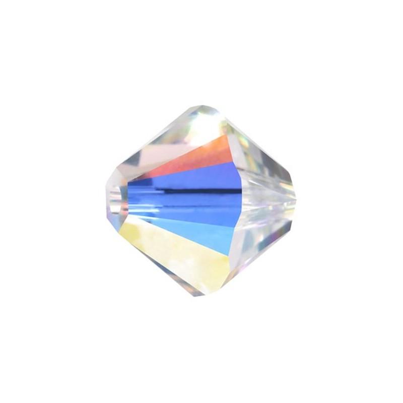 4MM Crystal AB (001 AB) 5328 XILION Bi-Cone Helmed SWAROVSKI ELEMENTS