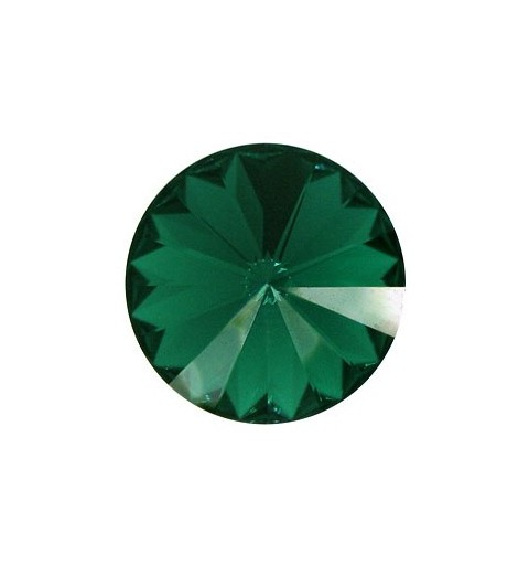 12MM Emerald F (205) 1122 Rivoli Chaton SWAROVSKI ELEMENTS