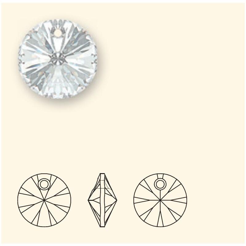 12MM Crystal (001) XILION Pendants 6428 SWAROVSKI ELEMENTS