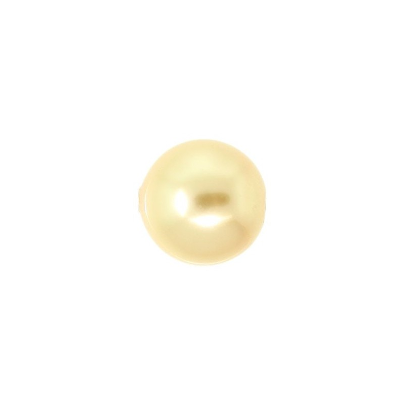 10MM Crystal Gold Round Pearl (001 650) Large Hole 5811 SWAROVSKI ELEMENTS