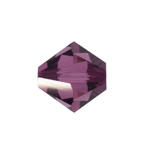 4MM Amethyst (204) 5328 XILION Bi-Cone Beads SWAROVSKI ELEMENTS