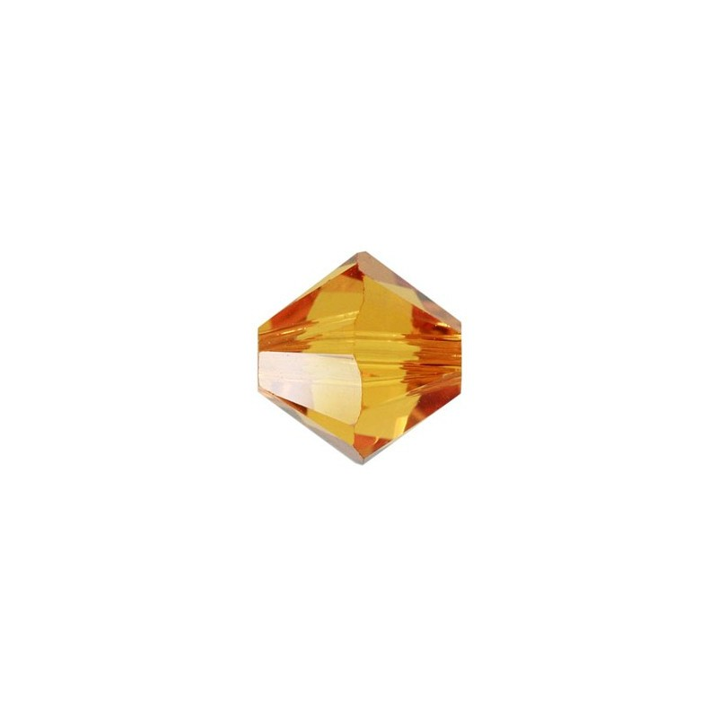 4MM Topaz (203) 5328 XILION Bi-Cone Beads SWAROVSKI ELEMENTS