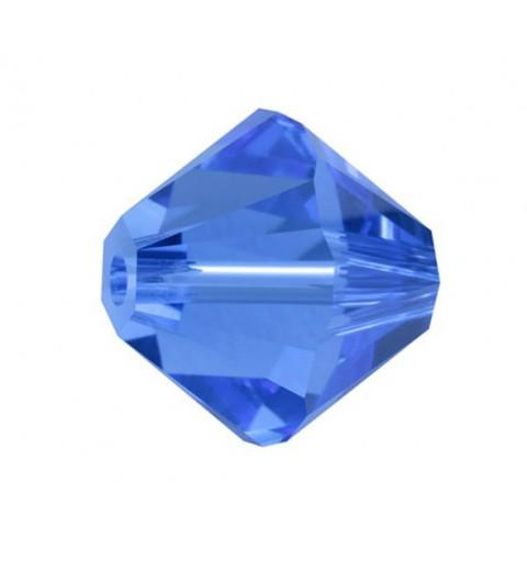 4MM Sapphire (206) 5328 XILION Bi-Cone SWAROVSKI ELEMENTS