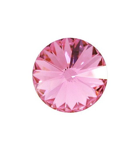 12MM Rose F (209) 1122 Rivoli Chaton SWAROVSKI ELEMENTS