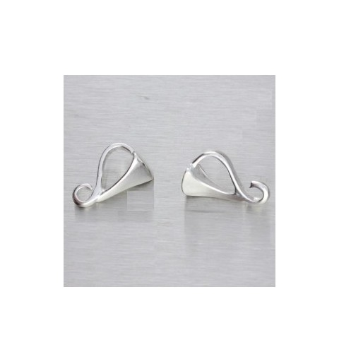 STERLING SILVER 925 HANGING PART WITH RING FOR PENDANTS 9X6MM 0,3G